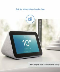 """call for price Lenovo ZA4R0027US Smart Clock with the Google Assistant Mediatek 8167S 1.5ghz 1GB 8GB Emmc 4"""" (480 x 800)Touch Compatible Soft Touch Cloth Grey WIFI, BLUETOOTH"""