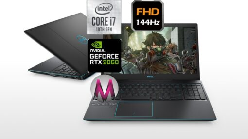 DELL G3 3500 GAMING CORE I7-10750H 512SSD 16GB 15.6 144HZ