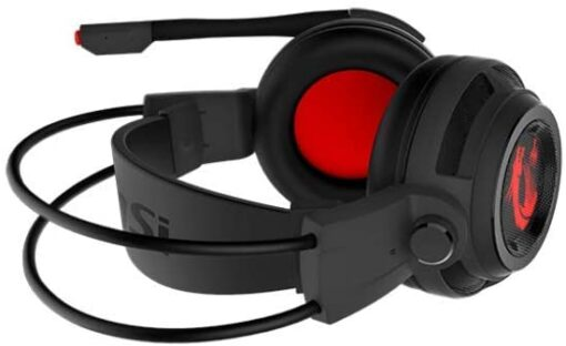 MSI Gaming S37-21000A1-V33 Headset with Microphone, Enhanced Virtual 7.1 Surround Sound,